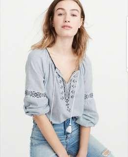 rtp 74 a&f bohemian tie front top