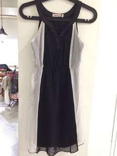 Agneselle black and white dress