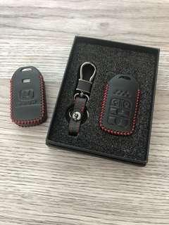🚚 High quality Honda Freed Odyssey 4 buttons leather key fob pouch cover case