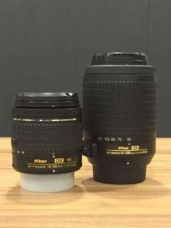 🚚 Nikon 18-55mm and 55-200mm DX lens