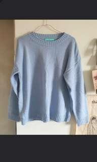 🚚 天空藍毛衣