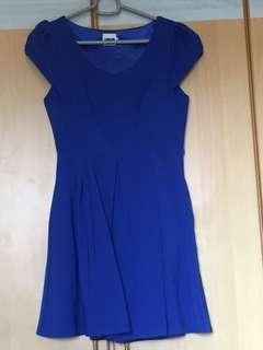 Momoteapots navy blue dress