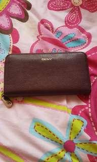 DKNY burgundy wallet