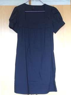 Navy Blue sleeved dress