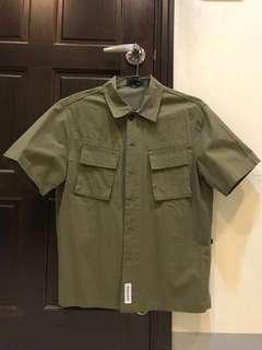 軍綠工裝襯衫 工作襯衫 短襯衫