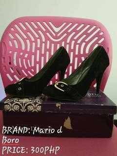 Mario d Boro black heels