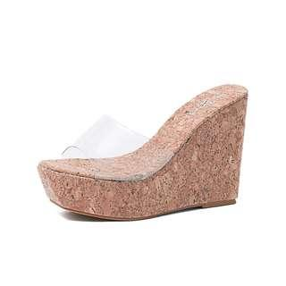 9e7304057 PVC Wedges Slippers For Woman