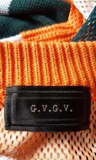 bought from I.T. made in Japan G.V.G.V. 前後不同物料針織