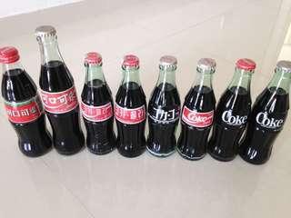 🚚 HK China Japan Korea Taiwan Hong Kong 1990s Coca Cola Bottles Coke