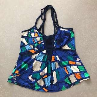 French Connection Colourful Graphic Print Halter Neck Top