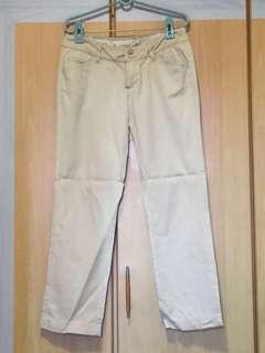 Mango beige work pants