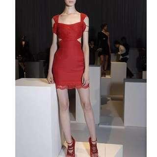 Versace Versus Designer Red Arm Cuff Dress