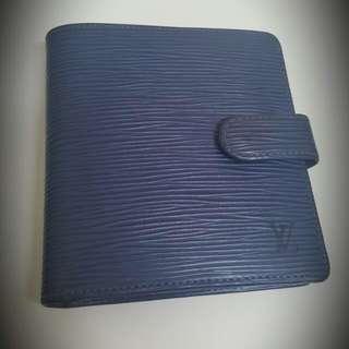 🚚 Lv 藍色 水波紋短夾