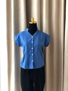 Zara hnm forever21 style Blue Jeans Top