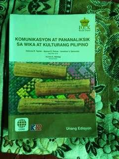Komunikasyon at Pananaliksik sa Wika at Kulturang Pilipino