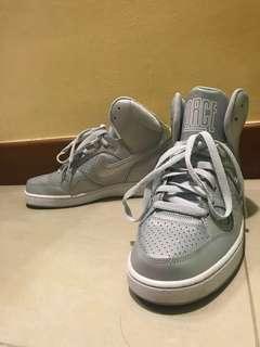 High cut Silver Nikes