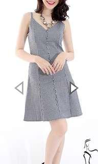 Checkered Spaghetti Dress