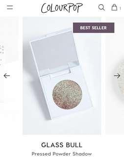 Colourpop Pressed Powder Shadow Glass Bull (comes with casing)