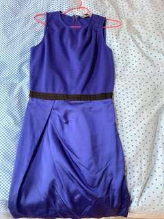 Armani Exchange dress US 2 /UK 8 blue work party dress