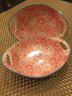 Oval Bowl with handle 2 Pieces