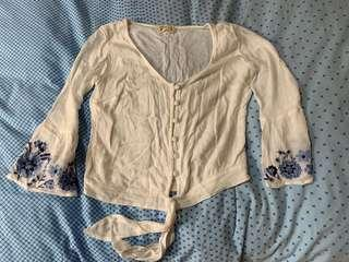 Hollister off white top US 2