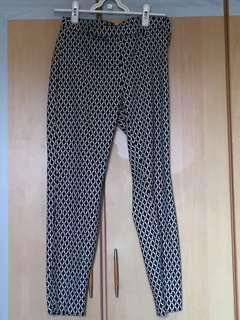 H&M black/ white patterned jeggings