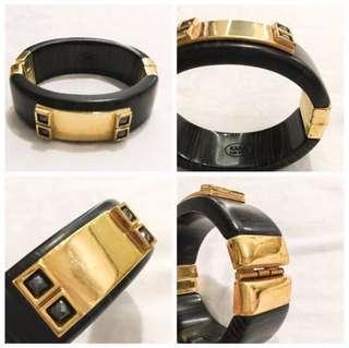 KARA Black and Gold Bangle
