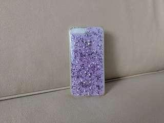 🚚 Miniso Silver Flakes Purple iPhone 7 Plus Phone Case