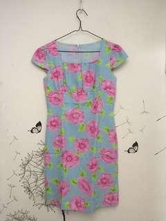 BLUEPINK FLOWERY DRESS