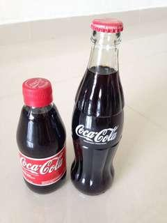 🚚 90s United Kingdom UK Coca Cola Glass Bottles Coke 330ml 250ml (You pick one)