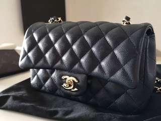 [on hold] chanel mini Caviar classic flap
