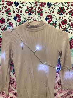 Dusty pink turtle neck top