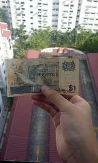 Old Singapore dollar note