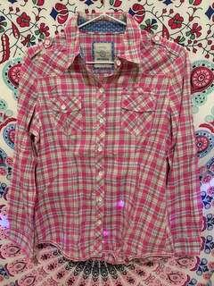 Baju berkerah pink top
