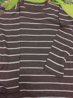 Brown stripes sweater