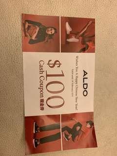 Aldo $100 Cash coupon