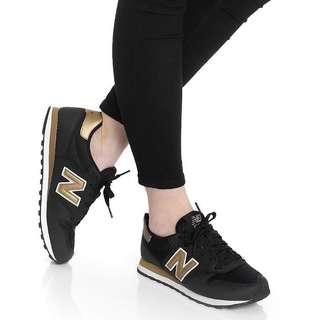 NEW BALANCE Black/Gold 500 Sneakers Shoes