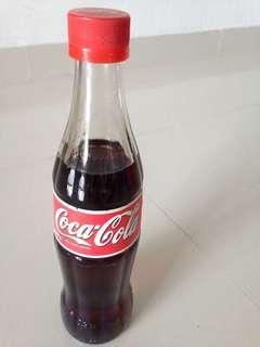 🚚 1990s Czech Republic Coca Cola Glass Bottle 330ml Coke