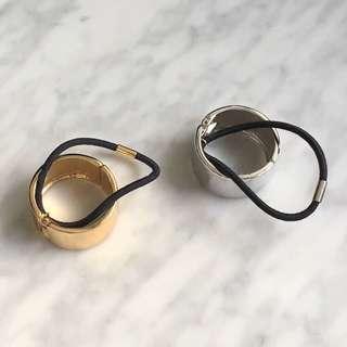 金屬 扣環 髮帶 發圈 造型 金 銀
