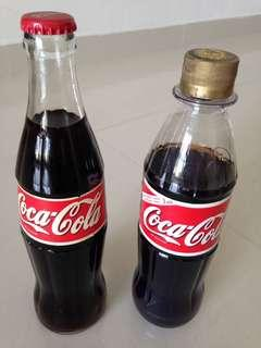 🚚 1990s Finland Coca Cola Glass and Plastic Bottles 350ml and 500ml Coke