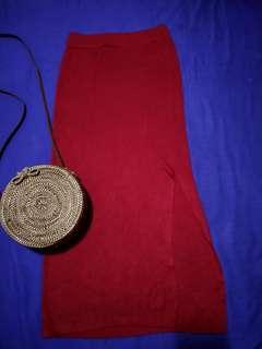 #BAPAU Red long skirt