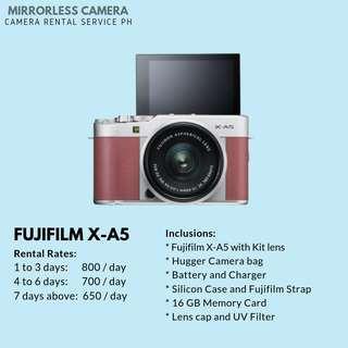CAMERA FOR RENT - Fujifilm X-A5