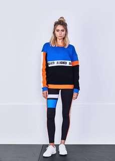 Aligned sage sweater