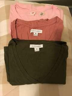 Mixed basic tees