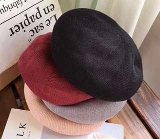 畫家帽(黑色)