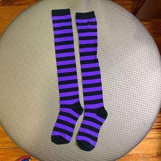 Knee Socks Purple