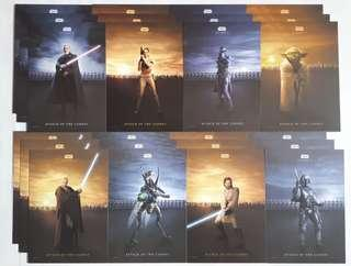 Star Wars Episode 2 postcards Attack of the Clones (3sets)