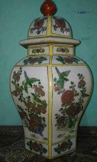 ANTIQUE, multi color jar.