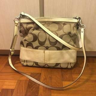 Coach signature print handbag