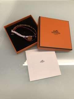 Hermes silk Bracelet petit h